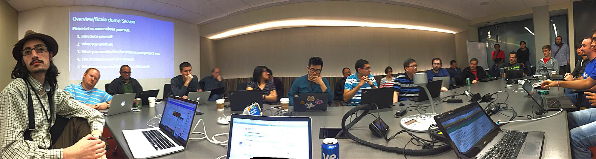 First day of introductions at Microsoft's OSSDataCamp
