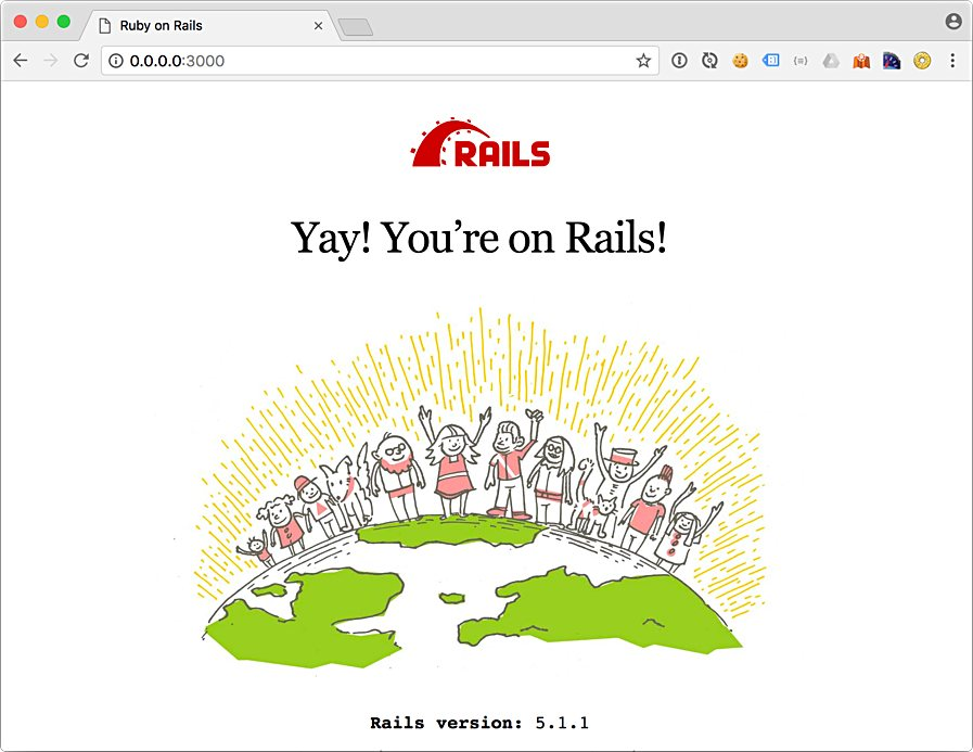 Yay! You're on Rails! Welcome Screen