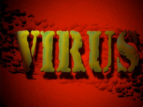 Virus Design Expierment With Text And Backgrounds