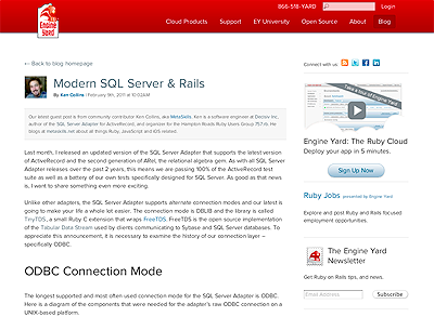 My Modern SQL Server & Rails Engine Yard Article